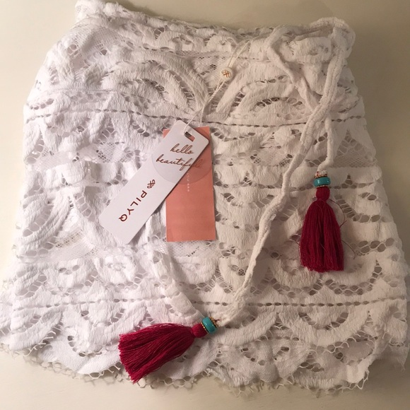 PilyQ Lanai Tassel Shorts